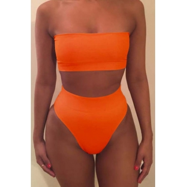Lovely Dew Shoulder Croci Two-piece Swimsuit
