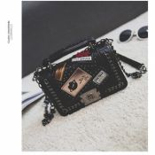 Lovely Retro Chain Strap Black Crossbody Bags