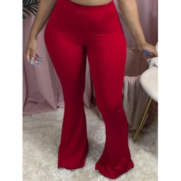 Lovely Casual Basic Skinny Wine Red Pants